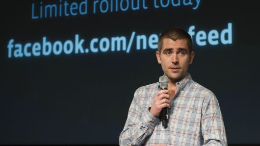 Facebook's Chief Product Officer Christopher Cox.